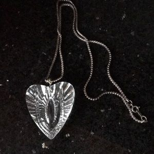 Waterford Crystal heart necklace